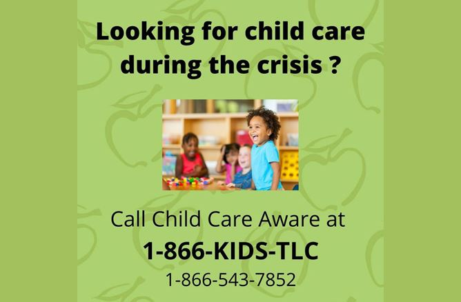 looking for child care during the crisis