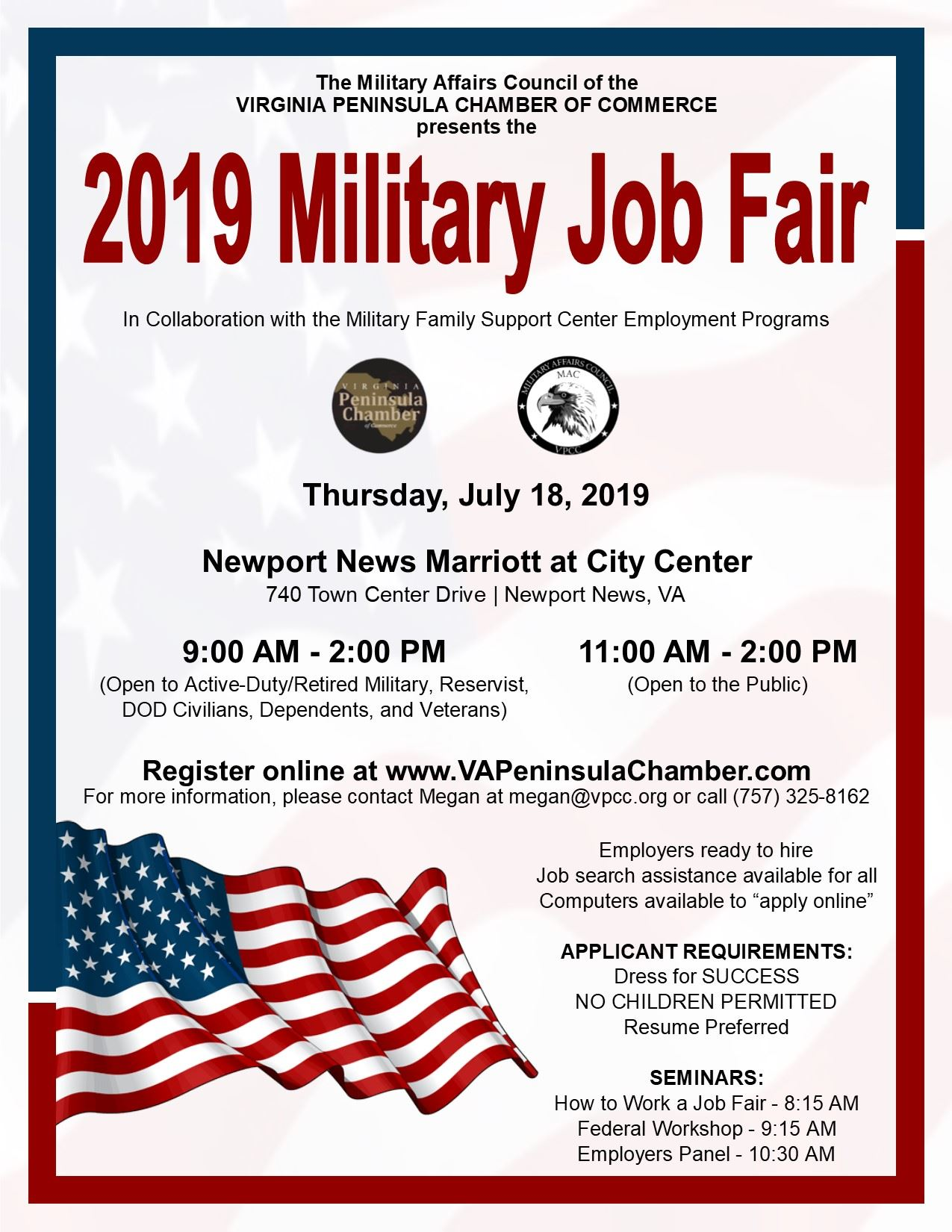 2019 Military Job Fair Flyer Opens in new window